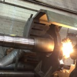Flame Spraying Shaft